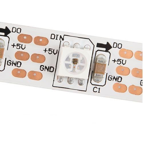 Адресуемая светодиодная лента: 60 LED 5050 WS2812, IP33, 5V