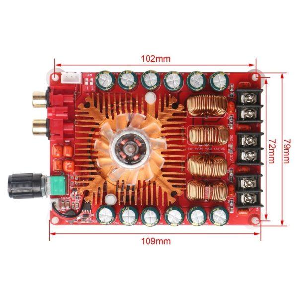 Цифровой усилитель 2x100W, TDA7498E