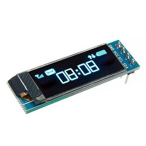 OLED дисплей 0.96 128х32, I2C синий
