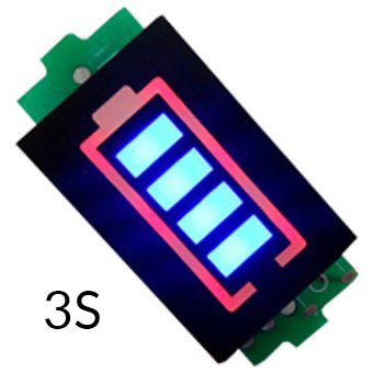 Индикатор уровня заряда Li-ion аккумулятора 3S 12.6V