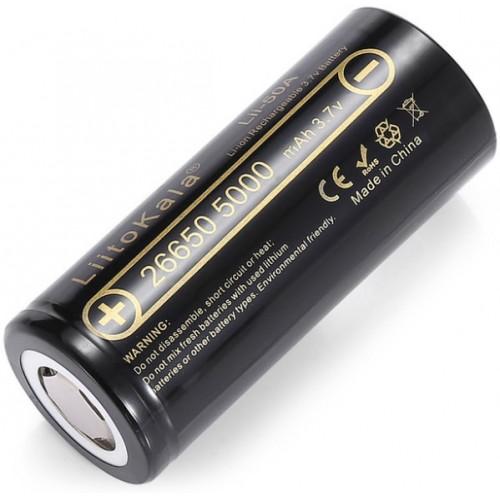 Аккумулятор LiitoKala Lii-50A 26650, 3.7V Li-ion, 5000 mA/h