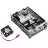 Корпус для Raspberry Pi B+ многослойный с вентилятором