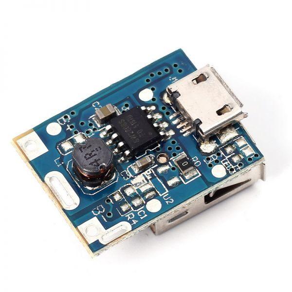 Powerbank модуль 1хUSB 1А, повышающий преобразователь напряжения