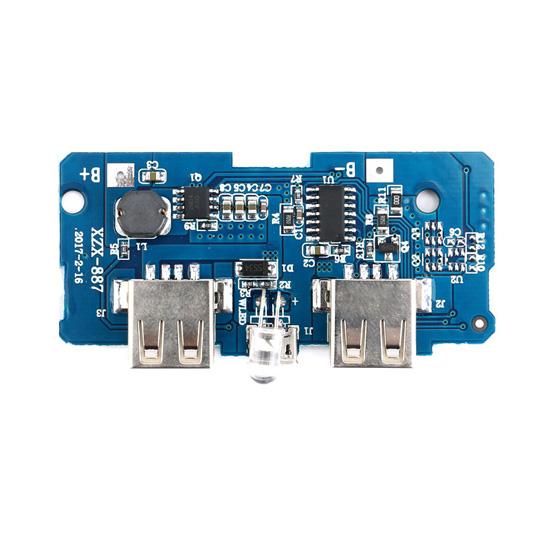 Powerbank модуль 2хUSB 2А, повышающий преобразователь напряжения