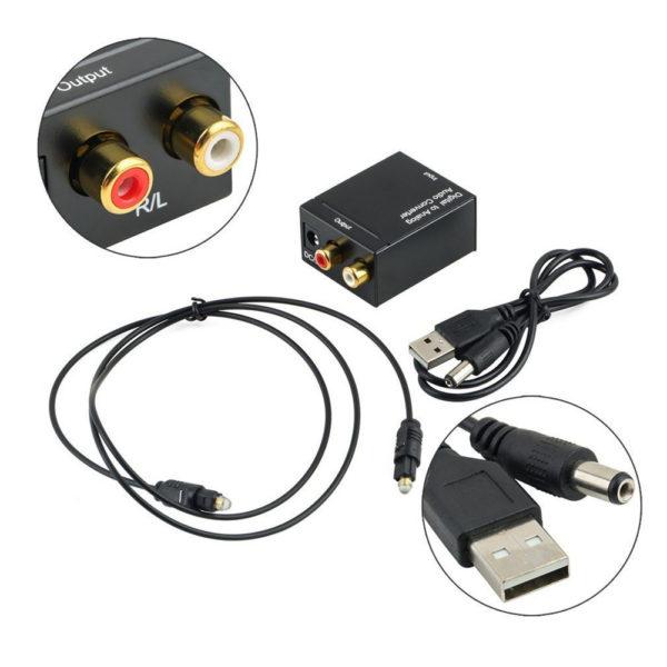 Конвертер аудио-сигнала Toslink - RCA DK-201 (цифра-аналог)