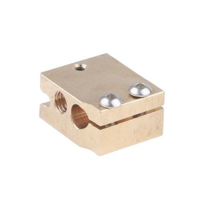 Нагревательный блок для 3D принтера (HotEnd Volcano, 24x20x12 мм, медь)