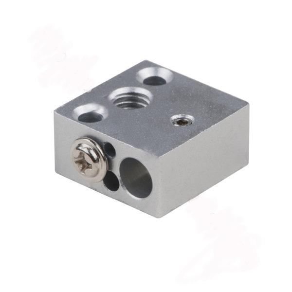 Нагревательный блок для 3D принтера (HotEnd CR-10, 20x20x10 мм, алюминий)