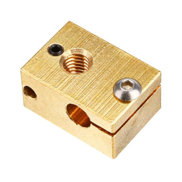 Нагревательный блок для 3D принтера (HotEnd V6, 22x16x12 мм, медь)