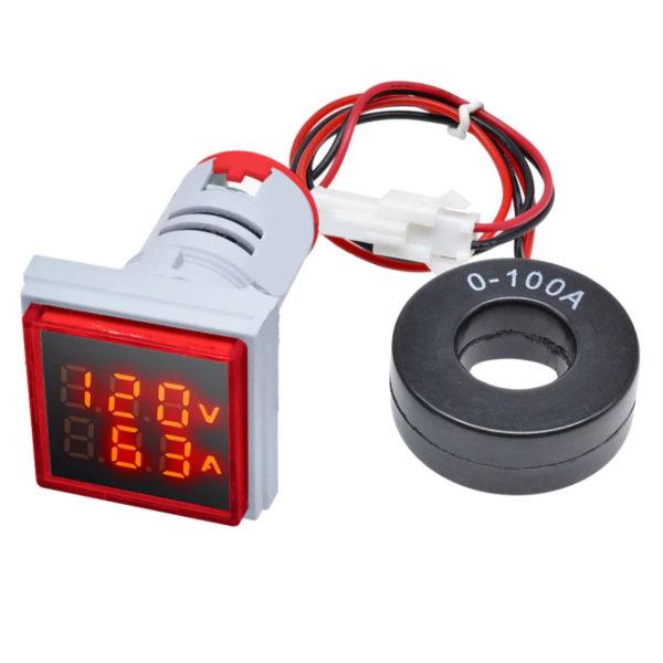 Электронный вольтамперметр AC 50-500V, 0-100A