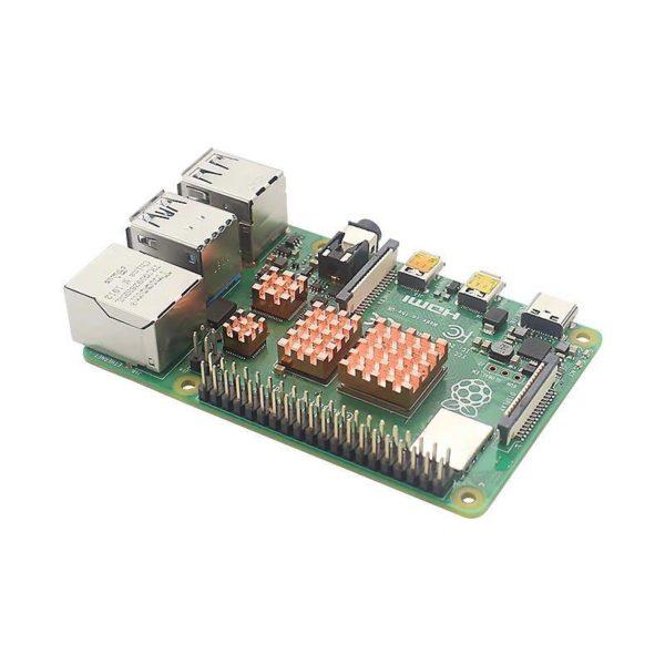 Комплект Медных Радиаторов Для Raspberry Pi 4
